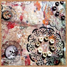 Blondas y botones art journal