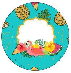 Uau! Veja o que temos para Rotulo Personalizado para latinha e toppers Flamingo Tropical Flamingo Party, Flamingo Birthday, Hawaian Party, Watercolor Flower Wreath, Baby Shower Deco, Aloha Party, Paper Gift Box, Tropical Party, Jar Crafts