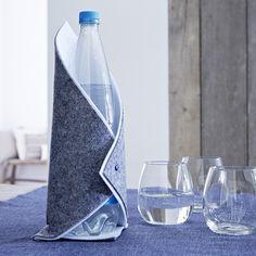 Housse bouteille feutrine Idée déco: http://villeneuve.zodio.fr/tendance/index/deco/?p=1
