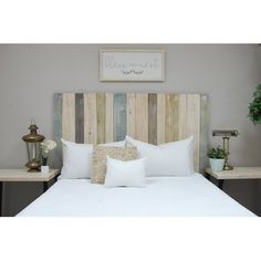 Headboard Designs, King Headboard, Beautiful Bedrooms, Adjustable Beds, Home, Bed Sizes, Headboard Styles, Farmhouse Headboard, Headboard