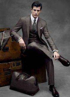"gdfalksen: "" Traveler in silver grey ZEGNA suit "" #Men'sFashion #Jewelryland.com"
