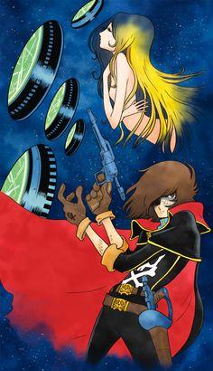 Captain Harlock y Anna maya Space Pirate Captain Harlock, Hobbies For Men, Fun Hobbies, Hobbies Creative, Cheap Hobbies, Manga Anime, Anime Art, Art Vintage, Animation