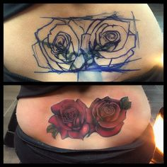 lower back tattoo cover ups Girl Back Tattoos, Full Arm Tattoos, Back Tattoo Women, Sleeve Tattoos, Tattoos For Guys, Flower Wrist Tattoos, Flower Tattoo Back, Rose Tattoos, Tatoos