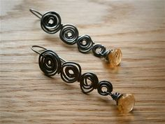 Golden Citrine Faceted Onion Briolette Organic by PepaMoyano, $69.00