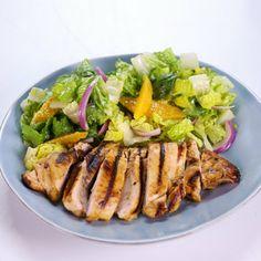 Grilled Orange Chicken Romaine Salad Allison Dalke