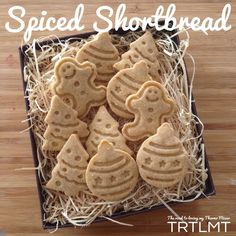 Recipe Spiced Shortbread by Thermomix, learn to make this recipe easily in your kitchen machine and discover other Thermomix recipes in Baking - sweet. Shortbread Biscuits, Shortbread Recipes, Cookie Recipes, Xmas Food, Christmas Cooking, Christmas Entertaining, Thermomix Desserts, Biscuit Cake, Christmas Treats