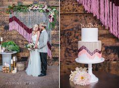"Vintage Wedding Inspiration at a Warehouse - Jasmine Star Blog Olivia Nelson Bridal Sash ""Lana"""