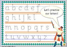 Superhero Practice Letters