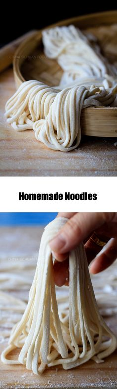 Homemade noodles--can be made as vegan version or egg noodles
