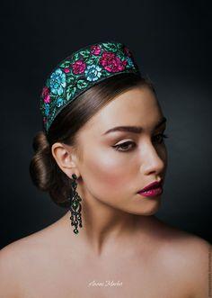 Купить Кокошник в стиле a la russe - комбинированный, русский стиль, народный стиль, ободок