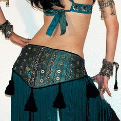 Scarlets Lounge Belly Dance Apparel / Chainette Fringe Hip Scarf