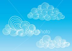 Funky Clouds Royalty Free Stock Vector Art Illustration