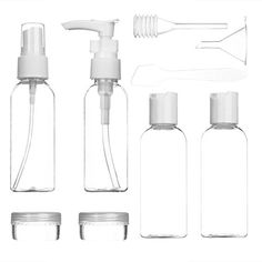 LUOYIMAN Travel Bottles for Makeup Cosmetic Toiletries Liquid Containers Leak Proof Portable Travel Accessories(Transparency) -- For more information, visit image link.