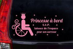Autocollant pour voiture princesse à bord s.v.p. par Akwadesign