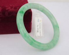 Vintage Translucent Natural Apple Green by wandajewelry2013