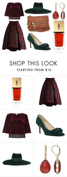 """""""Analog!"""" by linus-isotalus on Polyvore featuring Yves Saint Laurent, Chicwish, River Island, Nine West, Maison Michel and Napier"""
