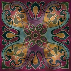 This art nouveau design would translate well. Art Nouveau Design, Design Art, Design Ideas, Art Nouveau Furniture, Organic Art, Zen Doodle, Silk Painting, Art Pictures, Design Elements