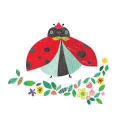 무당벌레, Ladybug illustration