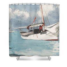 Fishing Boats, Key West, - Shower Curtain