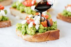 Healthy Avocado Toasts - with 5-minute balsamic reduction - the best lunch!!