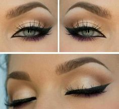 """Can you say, """"sophisticated buisness and I mean it!"""" This eye is simple, and precise, saying that you are confident and in charge, and those who get in your way, watch out! This is a look for a girl in charge, or someone who knows how to rock her little black dress!"""