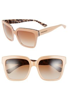 Dolce&Gabbana 'Animalier' 57mm Retro Sunglasses available at #Nordstrom