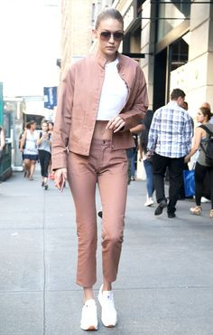 These $75 Sneakers Make Gigi Hadid's Outfit Look So Fresh via @WhoWhatWear