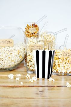 Party idea: a popcorn bar