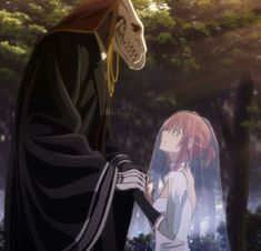 Elias Ainsworth and Chise Hatori. The Ancient Magus' Bride Mahou Tsukai no Yume Got Anime, Anime Love, Manga Anime, Anime Art, Elias Ainsworth, Chise Hatori, Sailor Moon, Tamako Love Story, Anime Couples