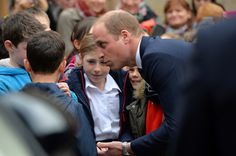 Prince William Photos Photos - Prince William, Duke of Cambridge meets local children during a visit to Stirling Castle on October 24, 2016 in Stirling, Scotland.  The Duke of Cambridge in his role as Earl of Strathearn is Patron of The Thin Red Line Appeal to redevelop The Argyll and Sutherland Highlanders Regimental Museum at the Castle. - Duke Of Cambridge Visits Stirling Castle