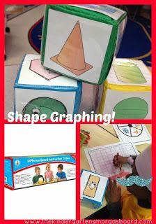 A Kindergarten Smorgasboard Differentiated Instruction Cube FREEBIE! Math Work, Fun Math, Math Activities, Math 8, Kindergarten Smorgasboard, Preschool Kindergarten, Kindergarten Shapes, 1st Grade Math, Math Class