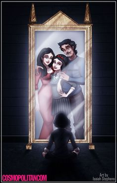 If Disney characters went to Hogwarts (incredible Disney/Harry Potter work by Isaiah Stephens) Snow White remembers her parents. Walt Disney, Disney Amor, Disney Girls, Disney Magic, Disney Hogwarts, Disney E Dreamworks, Disney Pixar, Disney Characters, Disney Dream