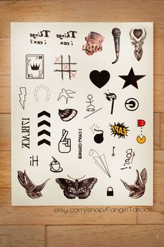 Replica One Direction temporary tattoos. | 19 Perfect Gifts Every One Direction Fan Needs In Their Life