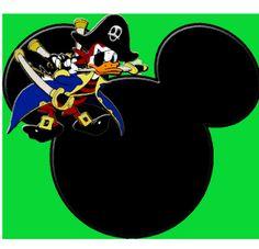 Imagens, Molduras e Rótulos para festa do Mickey Pirata! |Fazendo a Nossa Festa