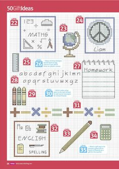 #CrossStitch #School #Student #Teacher Cross Stitch Crazy 206 - tymannost