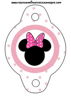 Minnie Mouse in Pink: Free Printables. Right click and save as