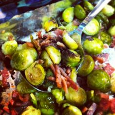 Roasted Brussel Sprouts w/Bacon