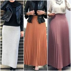 63 Ideas For Style Hijab Simple Skirts Modest Fashion Hijab, Modern Hijab Fashion, Hijab Chic, Abaya Fashion, Muslim Fashion, Fashion Dresses, New Hijab Style, Style Hijab Simple, Pleated Skirt Outfit