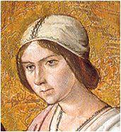 Nacimiento de la Virgen. H.1485-90. Pedro Berruguete, Museo Diocesano de Palencia (detalle)