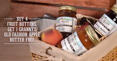 We hate to tempt you with our delicious fruit butters, but...how could we not? This is a SWEET deal! #TownsendTN http://www.applevalleycountrystore.com/gift-shops-townsend-tn/product/82-fruit-butters/category_pathway-76#utm_sguid=166342,3f8bae0e-0fe9-820f-18f9-07d4841f1e08