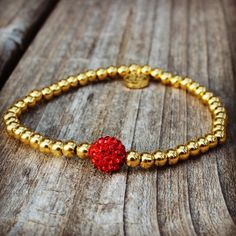 4mm Ireland Gold w/ Red – Rustic Cuff