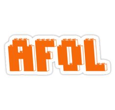 """AFOL IN ORANGE BRICKS by Customize My Minifig"" Stickers by ChilleeW 