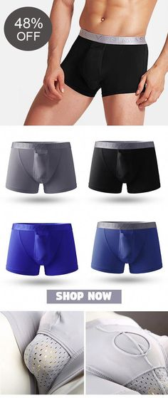 88a43df7736 [Online Shopping] Ice Silk Mesh Crotch Hole Boxers: Breathable &Quickly  Dry