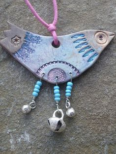 clay bird necklace by Highland Fairy