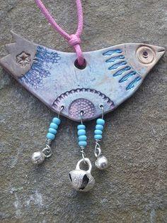 clay bird necklace by Highland Fairy