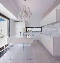 17 georgous white modern kitchen inspirations to inspire your next kitchen design. Interior design at its best and home decor to love. Kitchen Interior, Modern Interior, Home Interior Design, Interior Architecture, Kitchen Design, Kitchen Layout, Home Design, Kitchen Ideas, Modern Kitchen Island