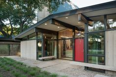 Midcentury Entry by Webber + Studio, Architects