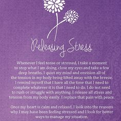 Affirmation - Releasing Tension