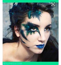 Bird makeup theme editorial