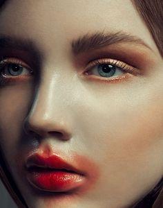 Smeared Lipstick Editorials : Little Red